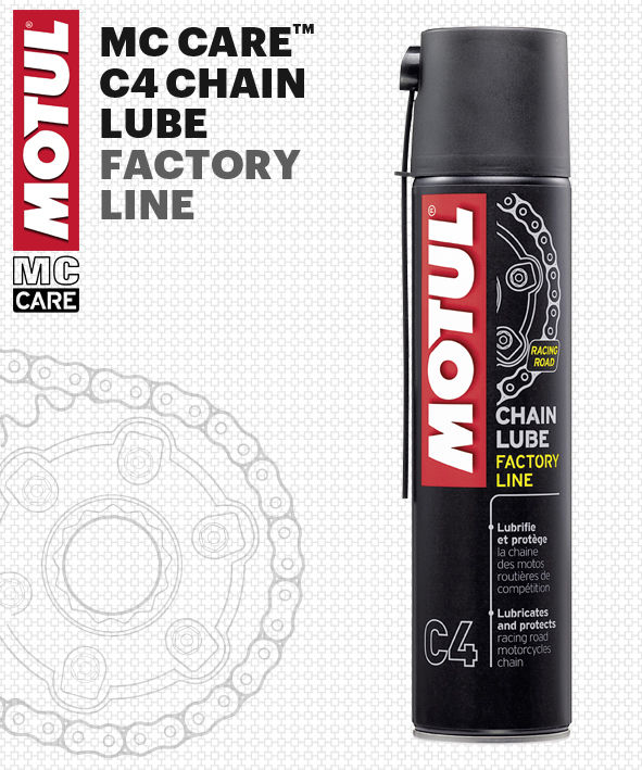 ¿POR QUÉ MOTUL MC CARE C4 Chain Lube Factory Line?