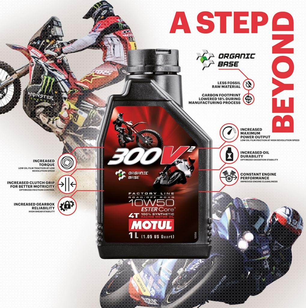 Motul geht auf der EICMA einen Schritt vorwärts und präsentiert ein neues Racing-Motorenöl : Motul 300V² 10W50