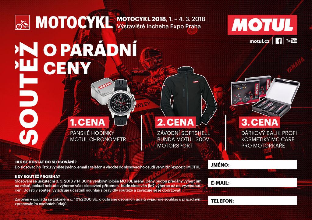 Incheba Expo Praha a MOTUL vás pozývajú na výstavu MOTOCYKL 2018