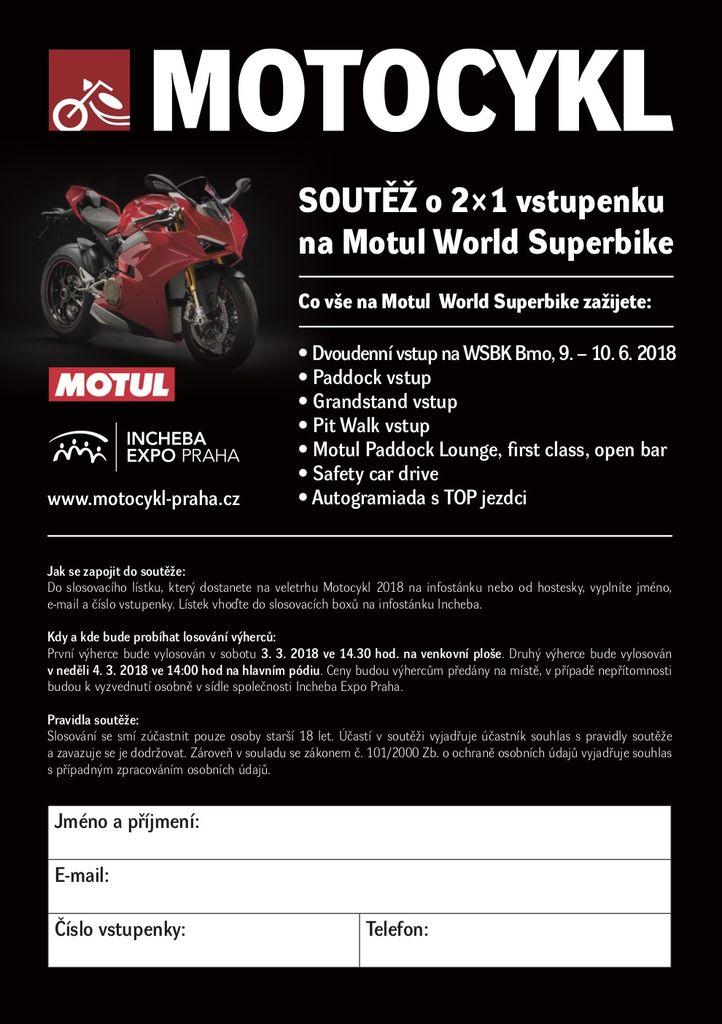 Vyhrajte lístky na preteky World Superbike v Brne!