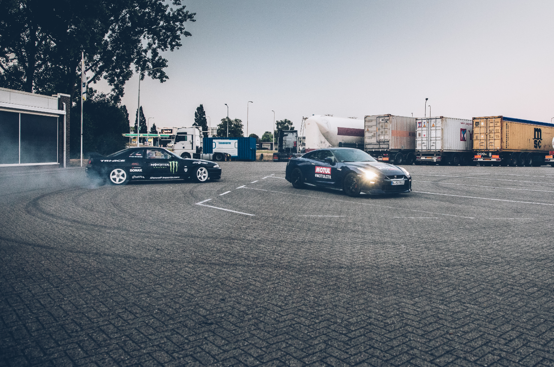 GT-R versus GT-R: Drifter Rick Van Goethem meets the #MotulGTR