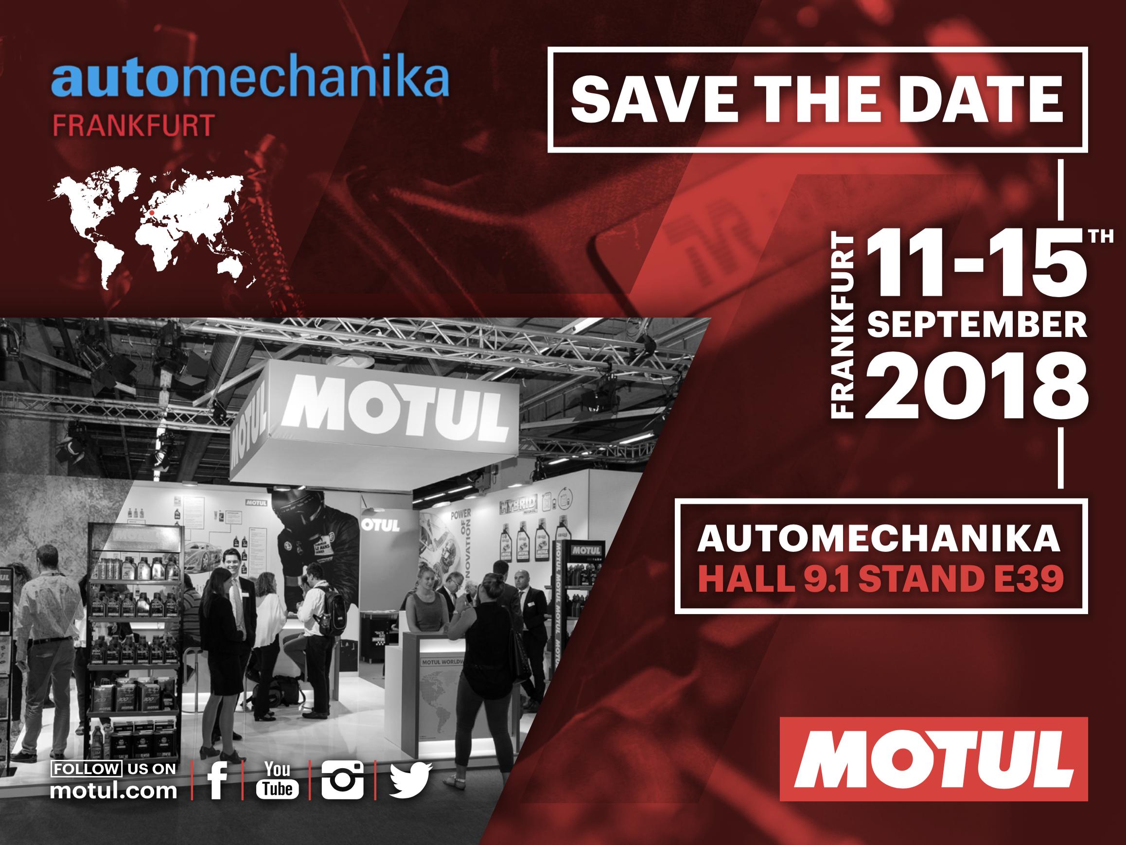 MOTUL презентує нову концепцію Garage Concept і новий продукт серії Hybrid на AUTOMECHANIKA 2018