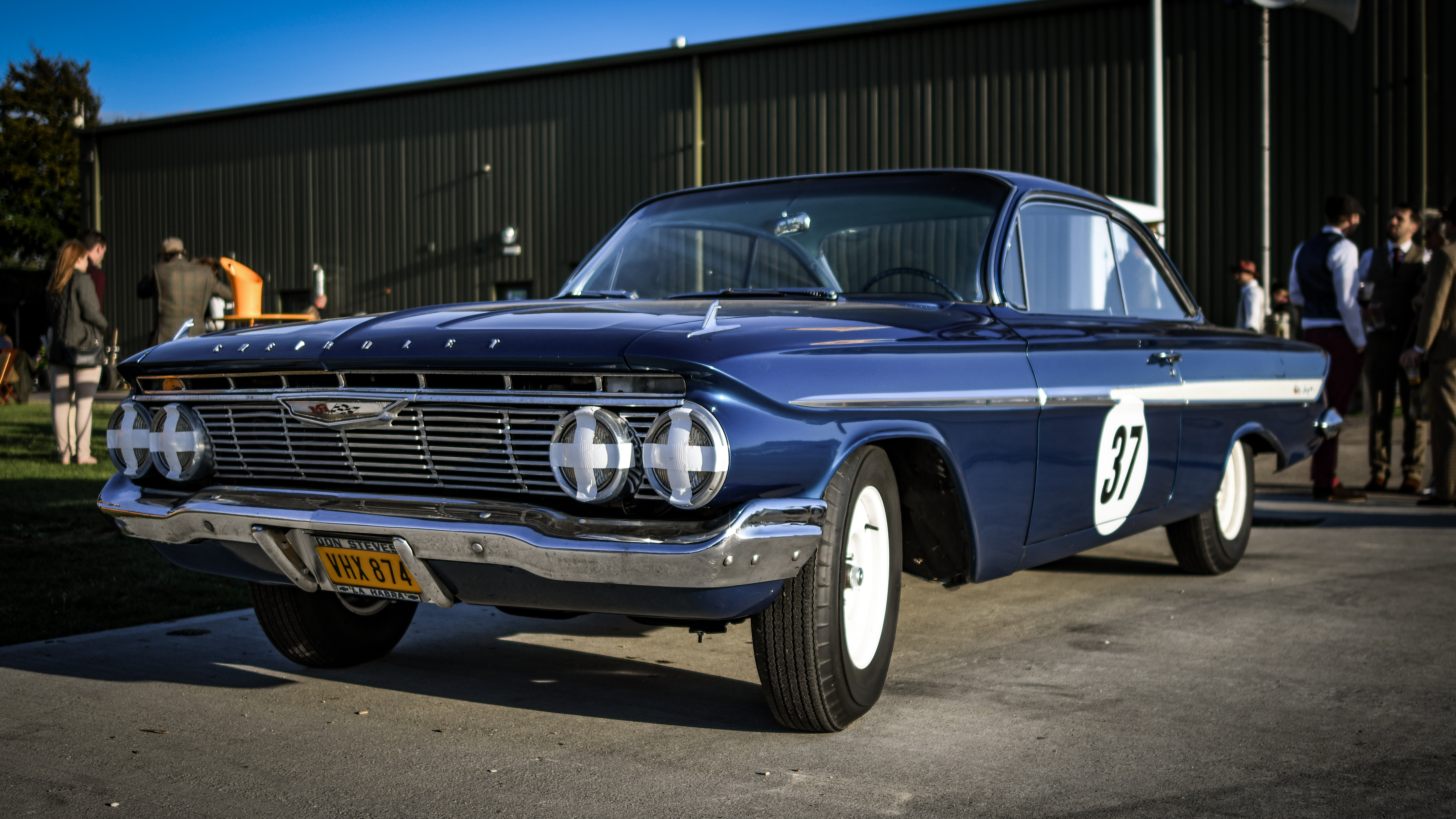 THE RESURRECTION OF DAN GURNEY'S ICONIC CHEVROLET IMPALA DURING THE GOODWOOD REVIVAL.