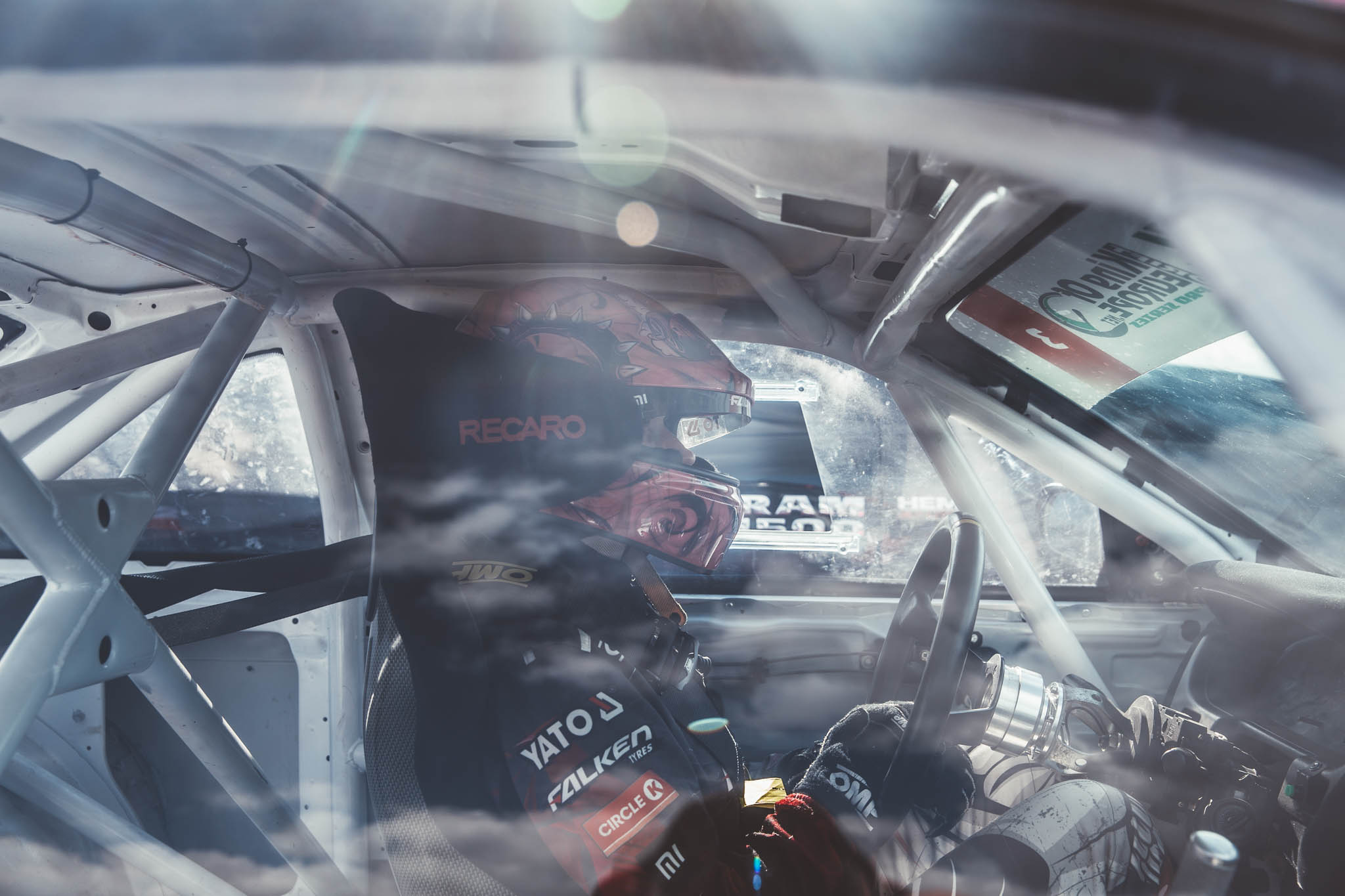As a strong woman in drifting, do you get many reactions from other women in the paddock?