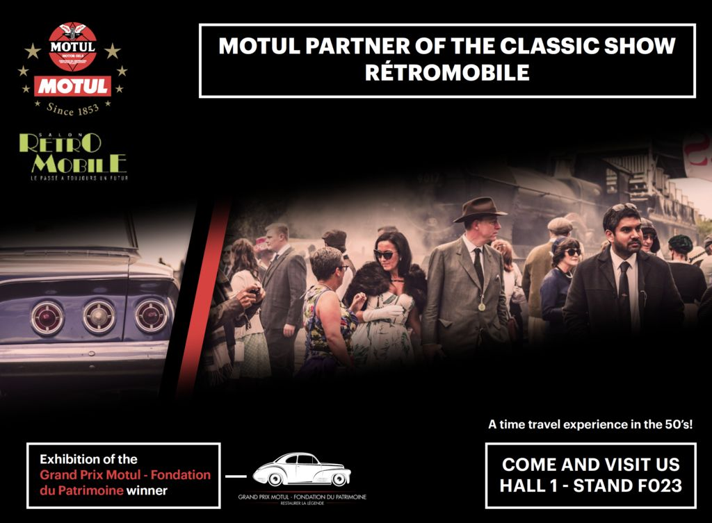 Motul travels back to the 1950's at Rétromobile