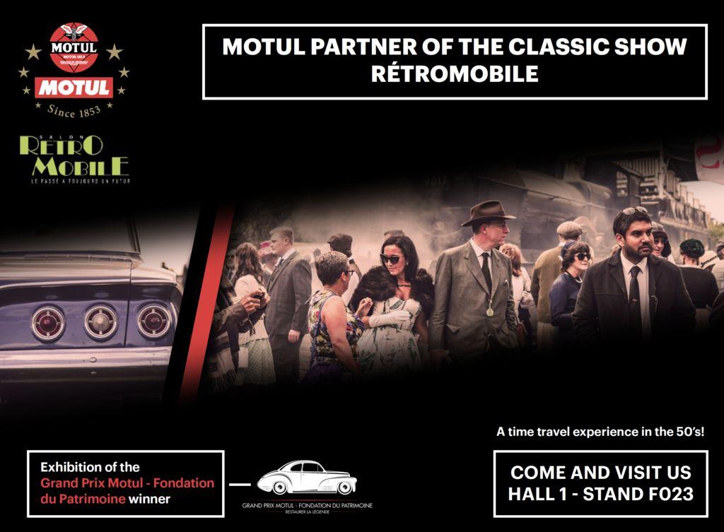 Motul vuelve a la década de 1950 en el  Rétromobile
