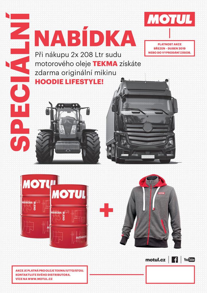 Speciální nabídka Motul pro nákladní a zemědelské vozy!