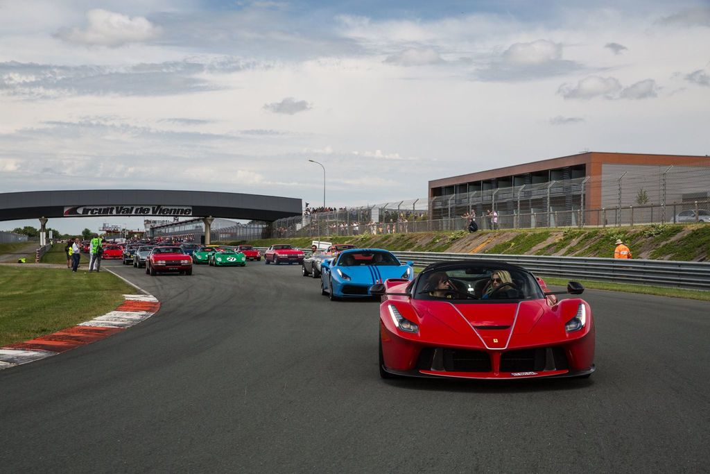 over 1000 dream cars lined up in the paddock