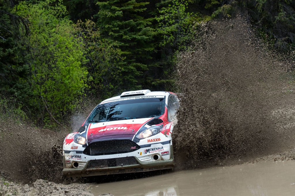 Do you think the knowledge you've gained from mountain biking gives you an edge when it comes to driving a rally car on a gravel stage?