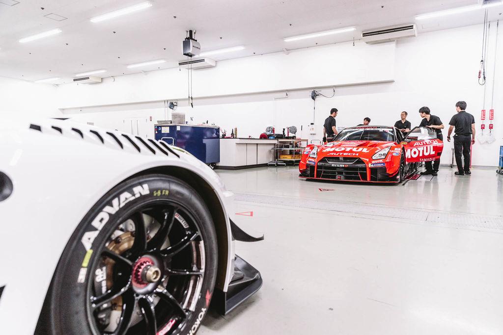 Inside the racing workshop