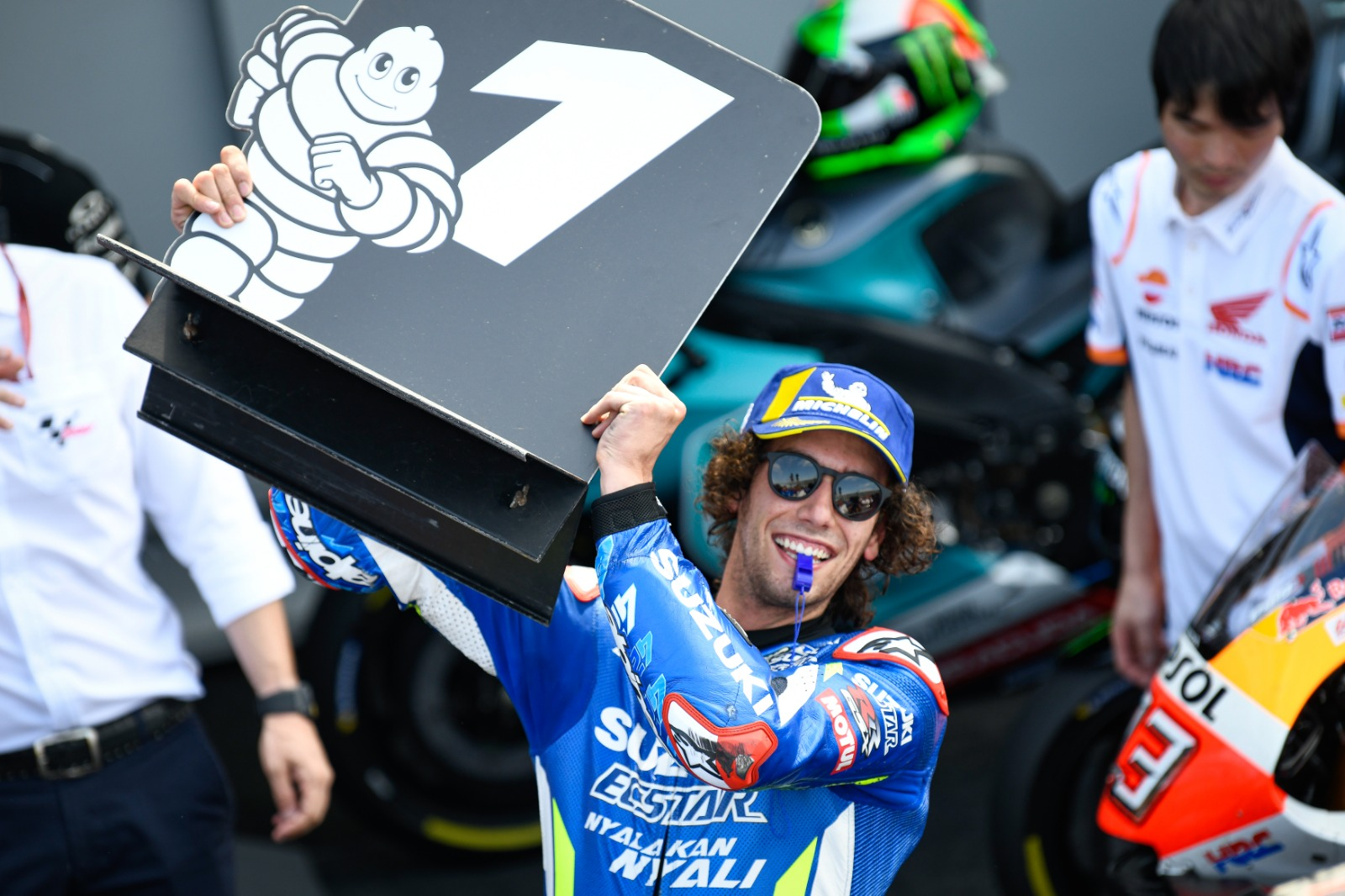 Rins sets MotoGP's British round alight!