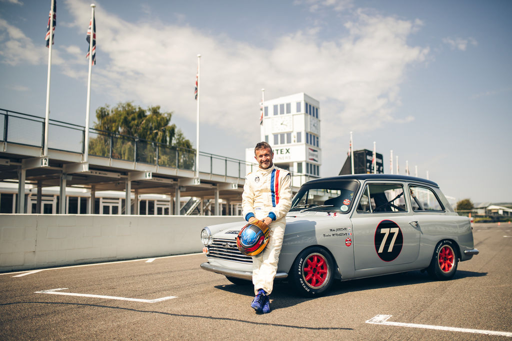 Speaking of cars what was it like to race the little Austin A40?