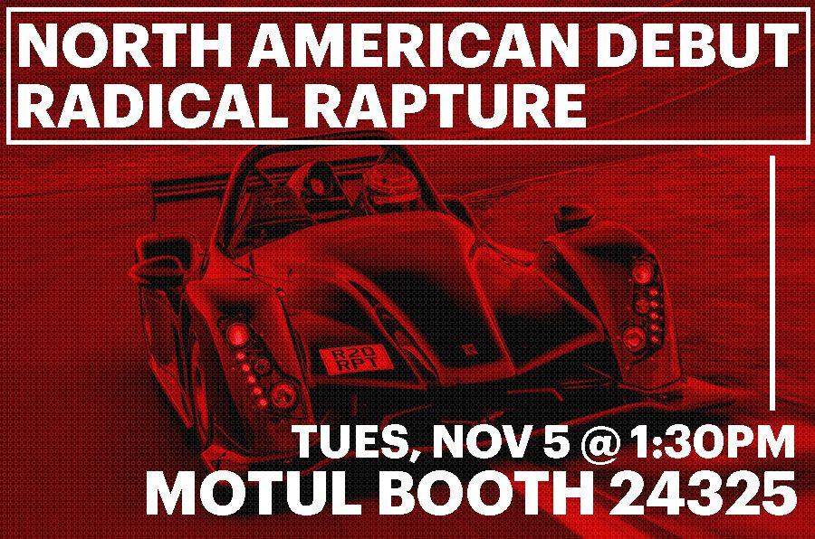Radical Sportscars Make North American Debut of Rapture with Motul