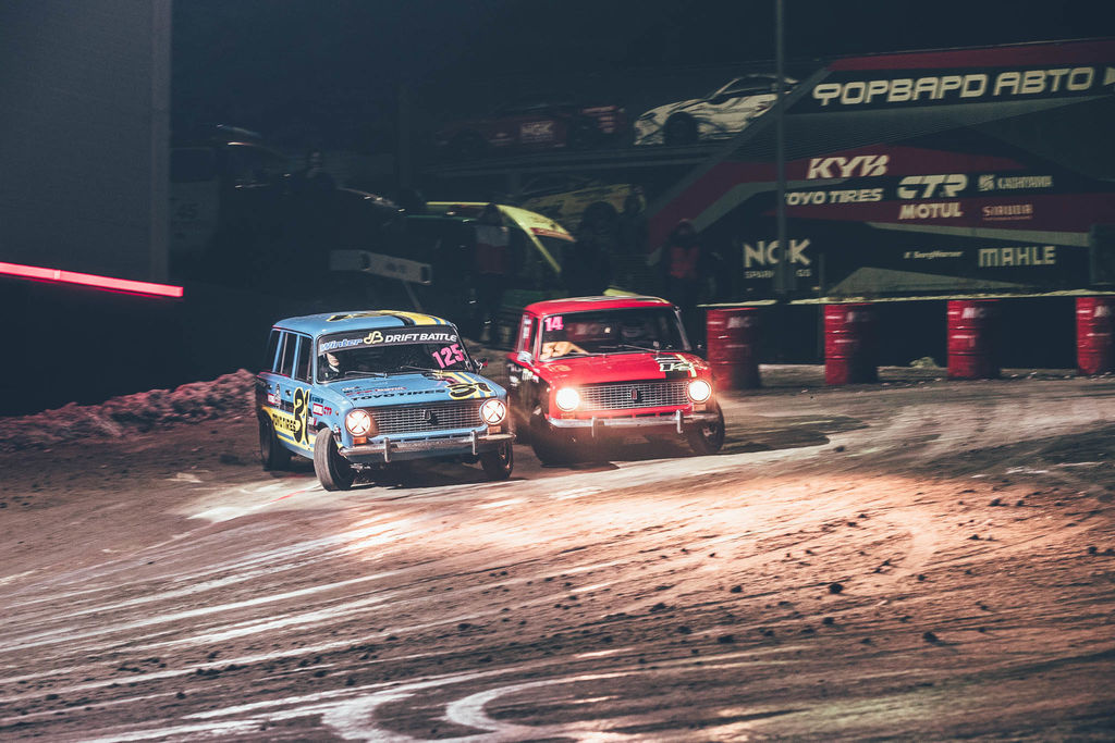 You went from drifting a high-powered Toyota Supra to a Lada? What do you learn from drifting the small Lada on ice?