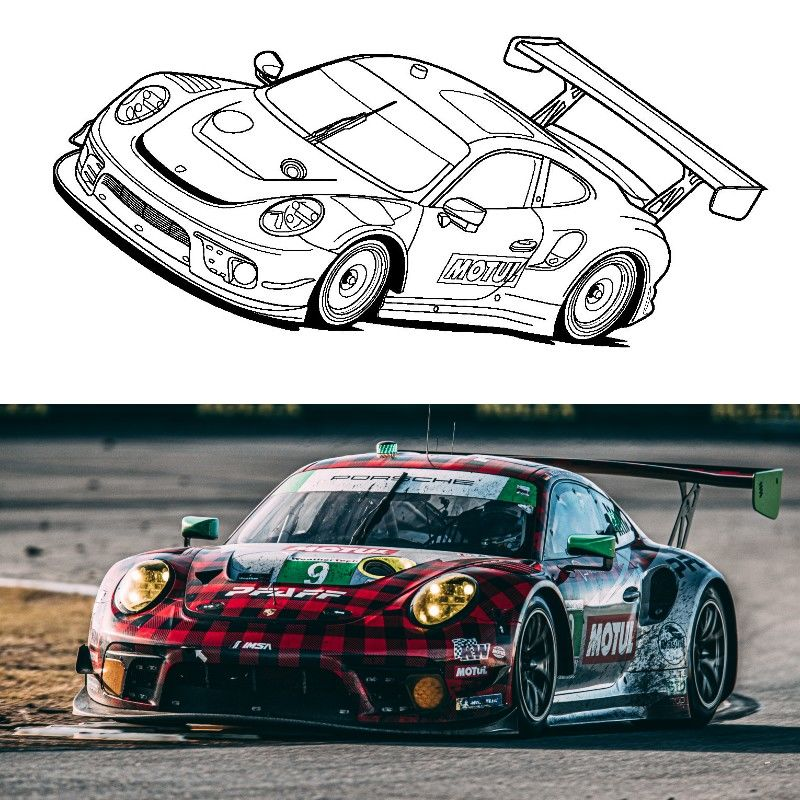 Get Your Motul Livery Coloring Pages!