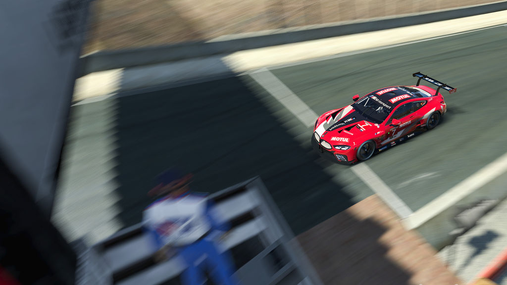You've been racing an M8 GTE in both real life and on the simulator. How realistic is the car in the simulation?