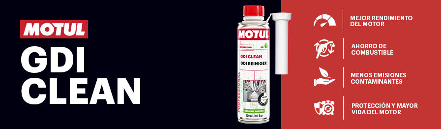 A través de su potente fórmula capaz de desintegrar la suciedad acumulada en el sistema, GDI Clean garantiza un funcionamiento óptimo y un rendimiento al máximo nivel del motor, reduciendo a su vez el consumo de combustible y las emisiones de CO2 y NO2