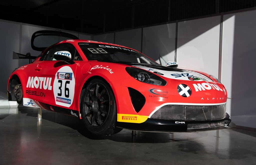 Concerning the Alpine, it now is fully dressed in bright red Motul colours. What's the story behind the livery?