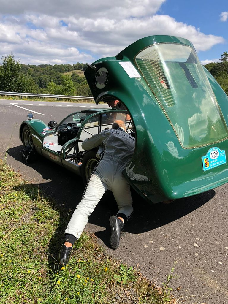 Talk me through the experience of spending 2.000 kilometres in the passenger seat of a race car crossing through France?