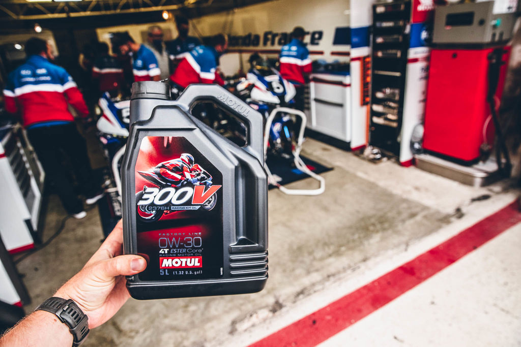What was your team's involvement in developing the Racing Kit oil in partnership with Motul?