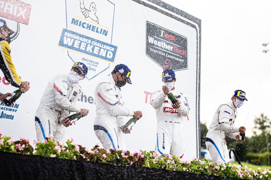 You won the IMSA iRacing championship. Did that help to keep you on your toes, and did you have to adjust to the real car again after racing virtually for so long?