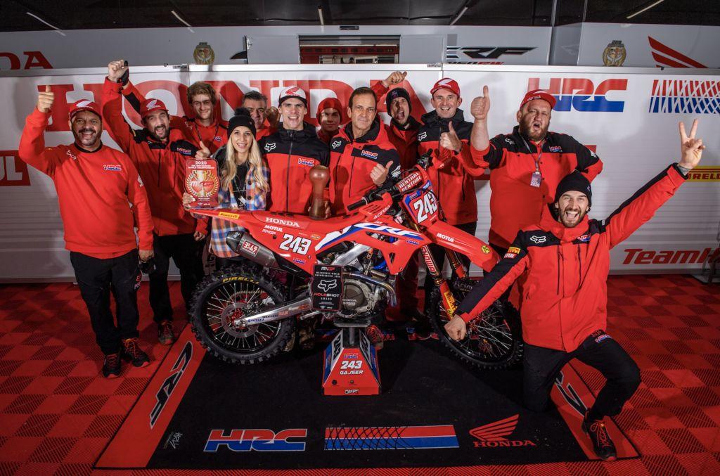 Tim Gajser remporte un nouveau championnat de MXGP avec Motul !