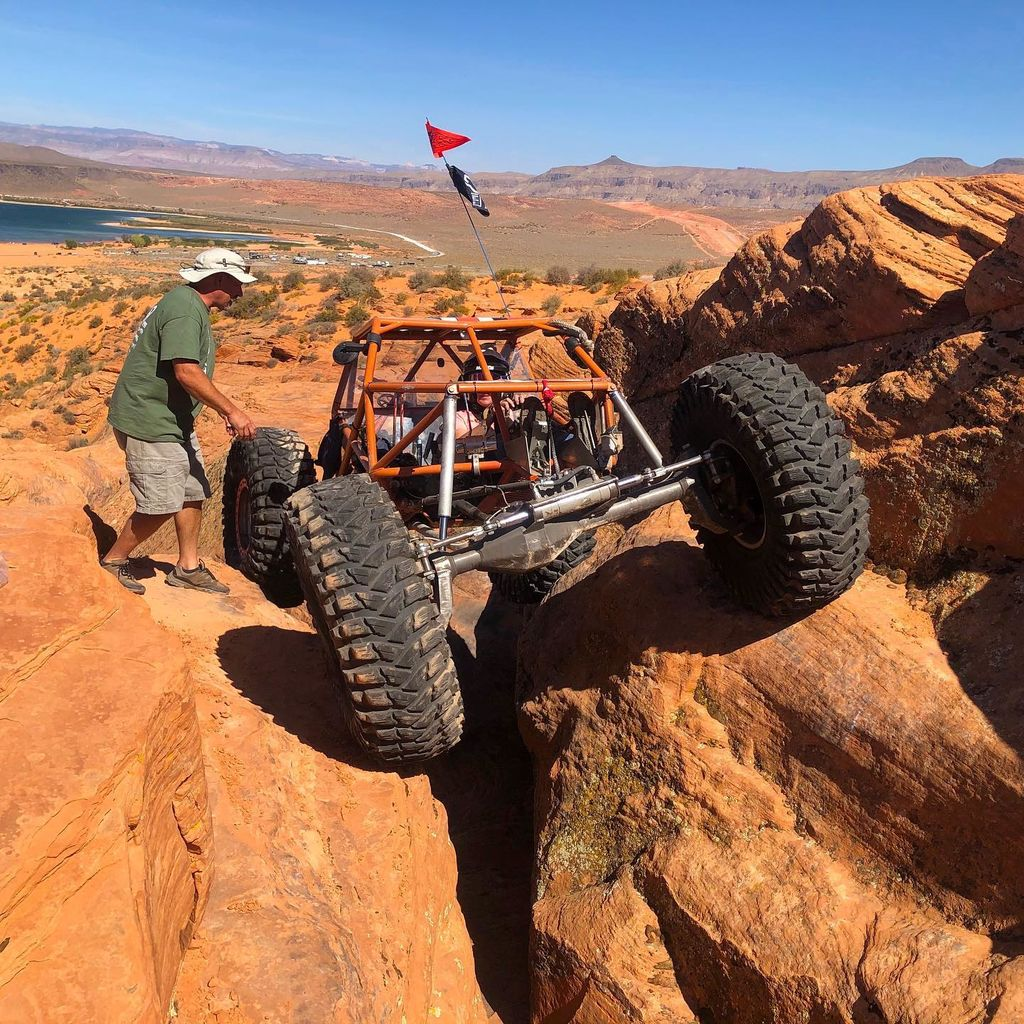 Do you both compete as drivers in rock crawling?