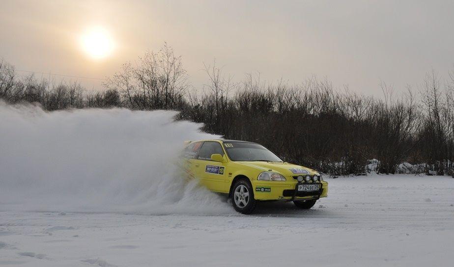 В категории 1600H (2WD) победил экипаж из Хабаровска - Ситников Евгений, Иванов Владислав на Honda Civic