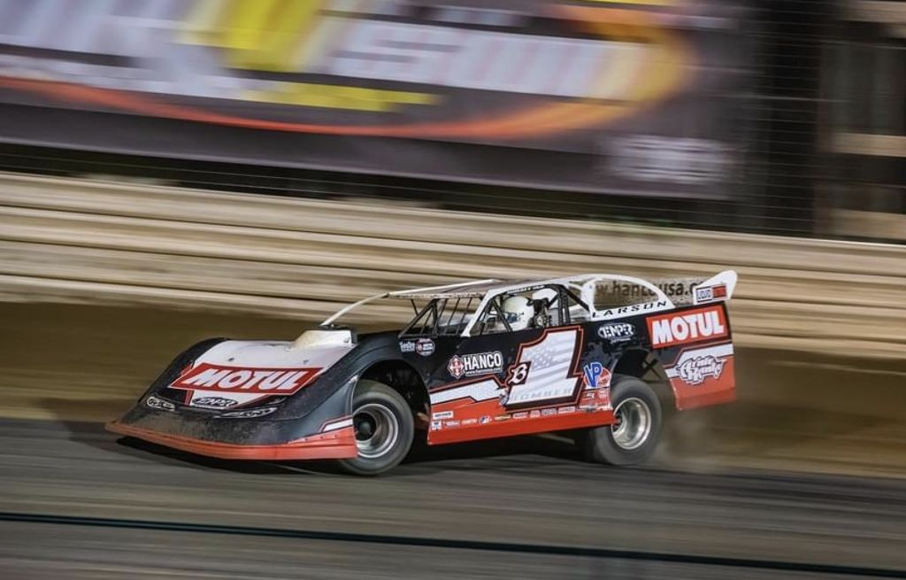 "DIRT RACER BRENT LARSON: ""WE'RE A SECOND FASTER THAN THE NASCAR GUYS"""