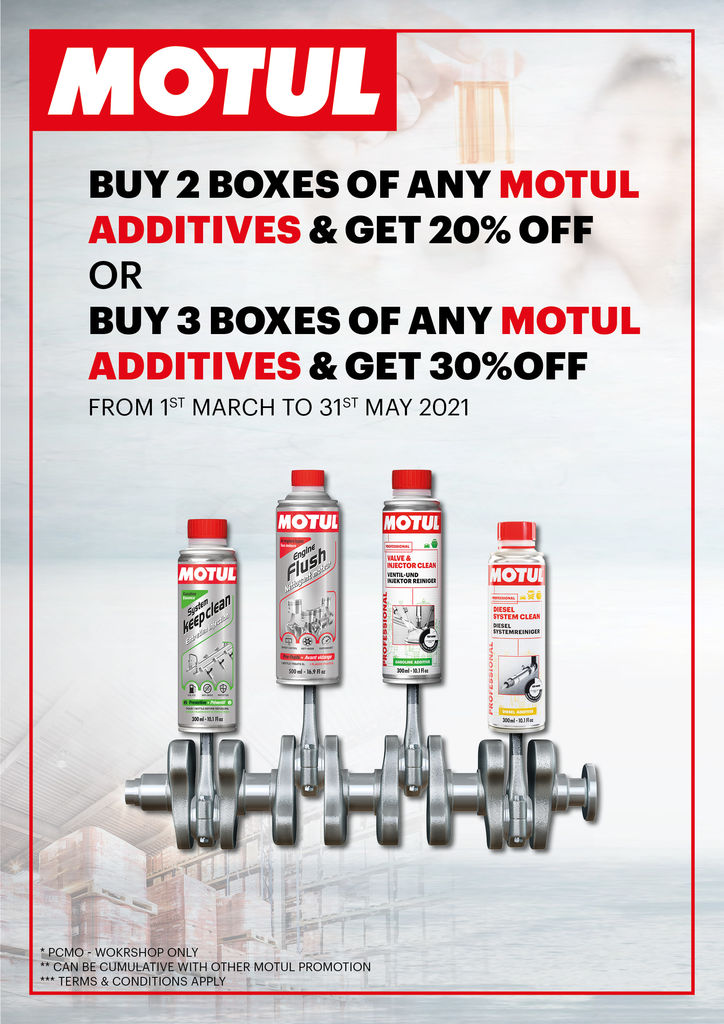 ADDITIVES PROMOTION - 1ST MARCH TO 31 MAY 2021