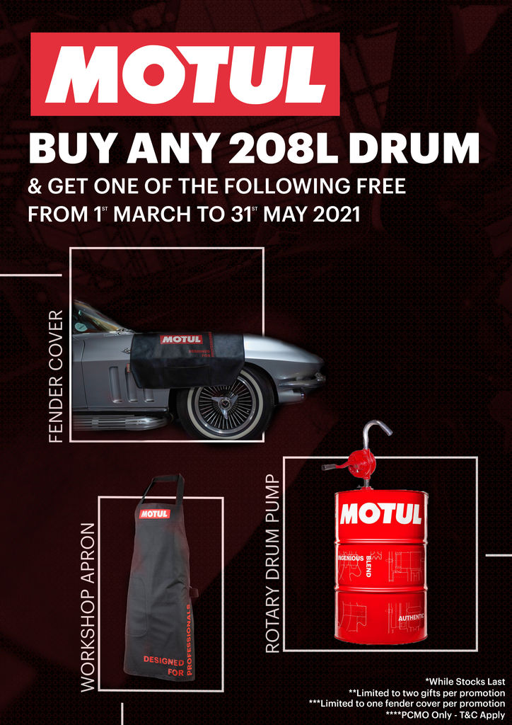 BUY ANY 208L DRUM AND GET ONE OF THE FOLLOWING FREE