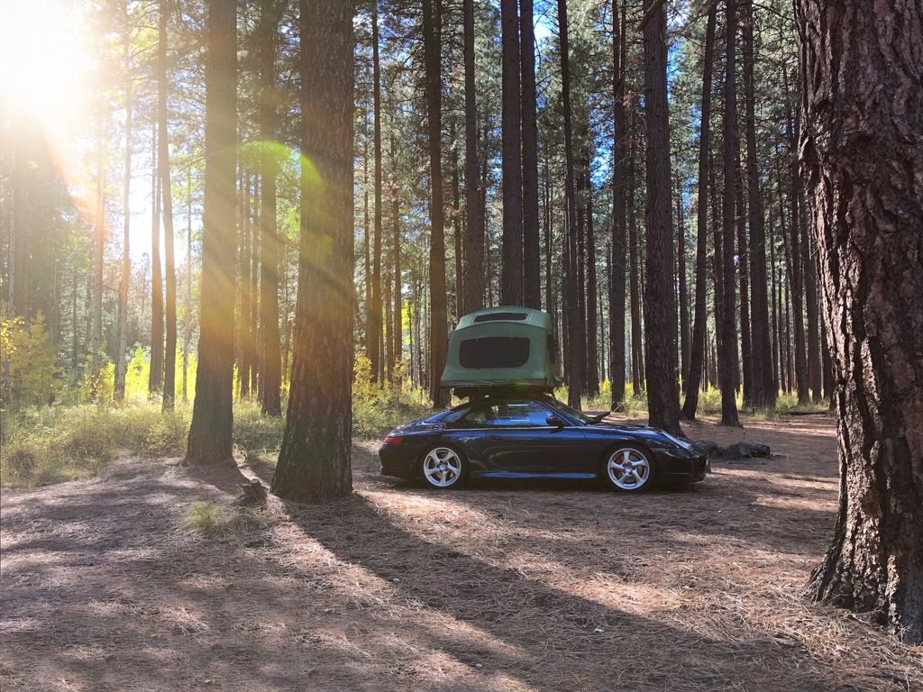 Where do you travel to with the 996 and the tent?