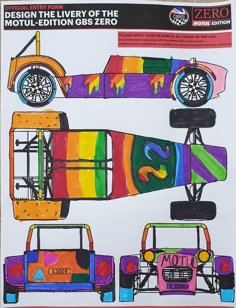 Kaira Milburn convinced with colourful design