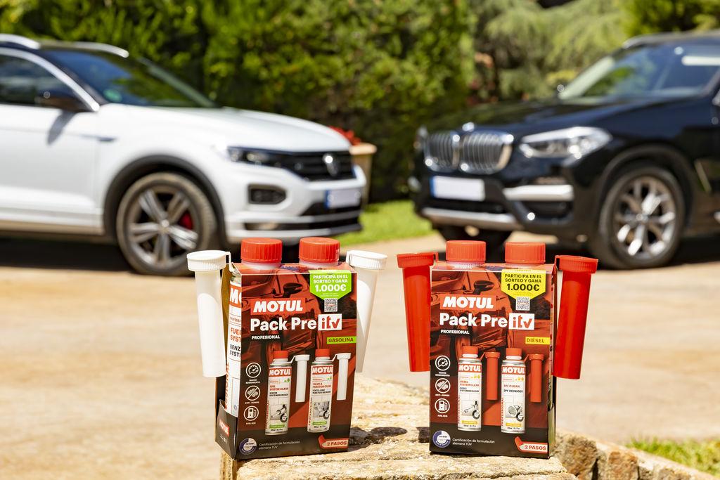 El pack pre ITV Diésel y el pack pre ITV Gasolina realizan una limpieza profunda del vehículo, ayudan a reducir el consumo de carburante y  las emisiones contaminantes, propiciando una ITV favorable