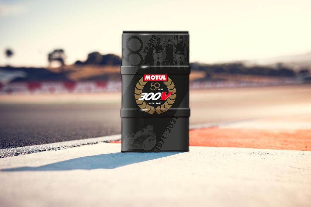 Para conmemorar el 50ª aniversario de nuestro producto bandera, el 300V, Motul ha lanzado un diseño de edición limitada para los bidones de 60L del 300V Factory Line.
