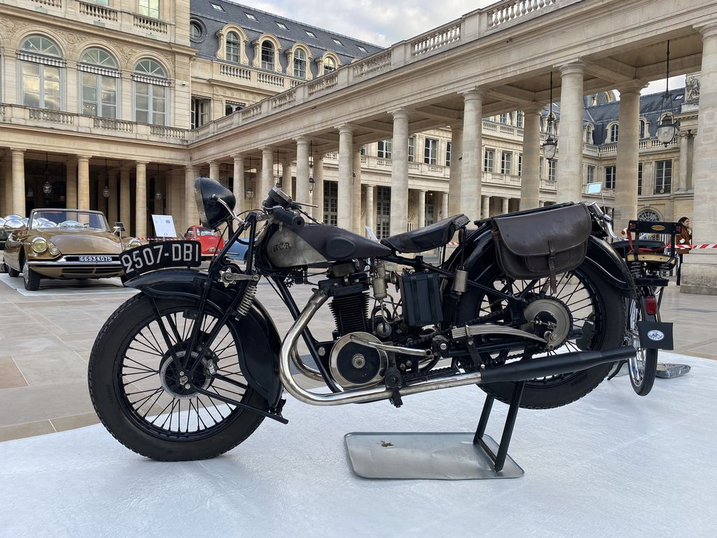 Can you tell us more about the motorcycle on display, the BCR Type IS?