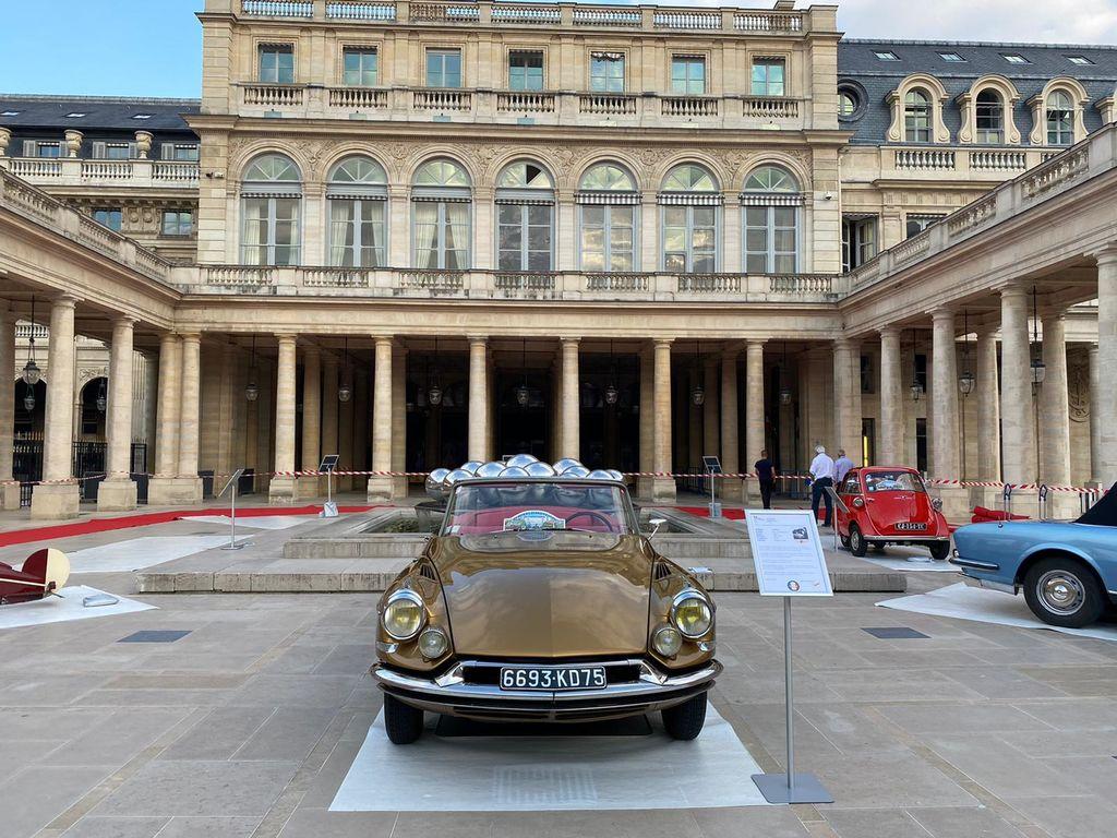 Deux de ces véhicules seront exposés lors d'un événement à Paris ce week-end. Pouvez-vous nous en dire plus sur l'événement au Palais-Royal ?