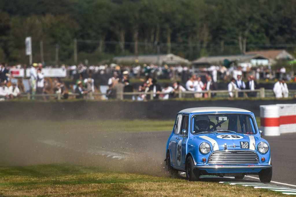 What's the key to driving the Mini fast at a track like Goodwood?